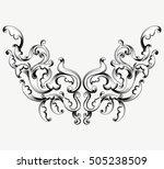 leaf pattern scene vector... | Shutterstock .eps vector #505238509
