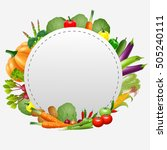 empty plate with fruits and... | Shutterstock .eps vector #505240111