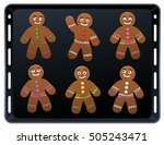 Gingerbread Man On Baking Plat...