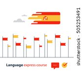 spanish language courses... | Shutterstock .eps vector #505253491
