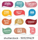 modern sale stickers collection | Shutterstock .eps vector #505259629