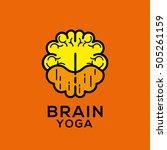 brain yoga vector logo | Shutterstock .eps vector #505261159