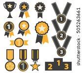 award icons set vector  | Shutterstock .eps vector #505263661
