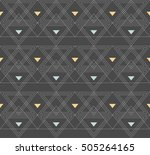 seamless pattern with abstract... | Shutterstock .eps vector #505264165