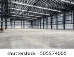interior of empty warehouse | Shutterstock . vector #505274005