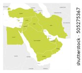 map of middle east or near east ... | Shutterstock .eps vector #505275367