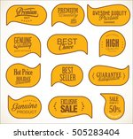 modern sale stickers collection   Shutterstock .eps vector #505283404