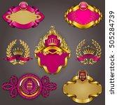 set of elegant templates for... | Shutterstock .eps vector #505284739