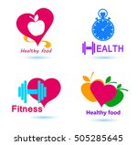 wellness symbols. healthy food... | Shutterstock .eps vector #505285645