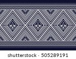 geometric ethnic pattern design ... | Shutterstock .eps vector #505289191