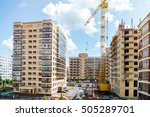 construction of a residential... | Shutterstock . vector #505289701