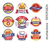 set of sale tags  badges and...   Shutterstock .eps vector #505292824