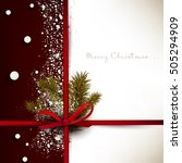 holiday background with red bow ... | Shutterstock .eps vector #505294909