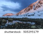 snow covered mountains...   Shutterstock . vector #505295179