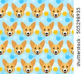 Corgi Seamless Pattern...