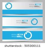 banner template. abstract... | Shutterstock .eps vector #505300111