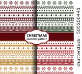 christmas seamless pattern | Shutterstock .eps vector #505300441