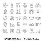 set line icons in flat design... | Shutterstock . vector #505305667