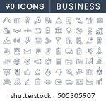 set  line icons with open path... | Shutterstock . vector #505305907