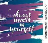trendy lettering poster. hand... | Shutterstock .eps vector #505307077