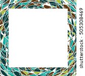 frame with tringles in vector.... | Shutterstock .eps vector #505308469