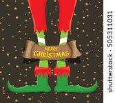 vector creative merry christmas ... | Shutterstock .eps vector #505311031