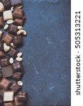 chokolate on granite background ... | Shutterstock . vector #505313221