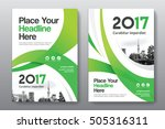 green color scheme with city... | Shutterstock .eps vector #505316311