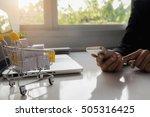 internet online shopping... | Shutterstock . vector #505316425