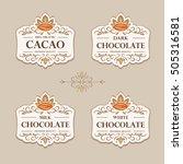 set of flourish vintage vector... | Shutterstock .eps vector #505316581
