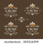 set of vector vintage flourish... | Shutterstock .eps vector #505316599