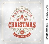 merry christmas and happy new... | Shutterstock .eps vector #505322641