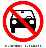 no car or no parking traffic... | Shutterstock .eps vector #505326955