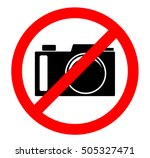 cameras prohibited sign. no... | Shutterstock .eps vector #505327471