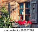 Window Old Wood Farmhouse...