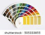 color palette guide isolated on ... | Shutterstock . vector #505333855