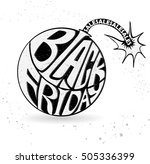 black friday sale black tag ... | Shutterstock .eps vector #505336399