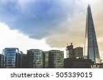 london cityscape with the shard ... | Shutterstock . vector #505339015