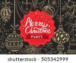christmas restaurant brochure ... | Shutterstock .eps vector #505342999