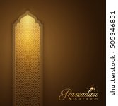 ramadan kareem glow arabic... | Shutterstock .eps vector #505346851