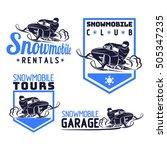 snowmobile logo sport sled... | Shutterstock .eps vector #505347235