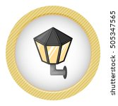 street light colorful icon in... | Shutterstock .eps vector #505347565