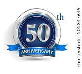 celebrating 50th anniversary... | Shutterstock .eps vector #505347649