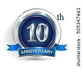 celebrating 10th anniversary... | Shutterstock .eps vector #505347661