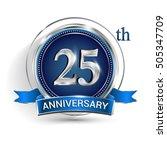 celebrating 25th anniversary... | Shutterstock .eps vector #505347709