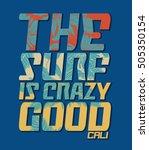 surf. vintage surf print. tee... | Shutterstock .eps vector #505350154