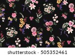 Stock vector trendy seamless floral pattern in vector 505352461