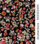 trendy seamless floral pattern... | Shutterstock .eps vector #505352494