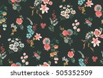 Stock vector trendy seamless floral pattern in vector 505352509