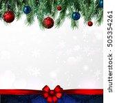 the frame from festive... | Shutterstock .eps vector #505354261